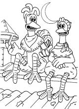 2324 heros coloring pages for Chicken run coloring pages