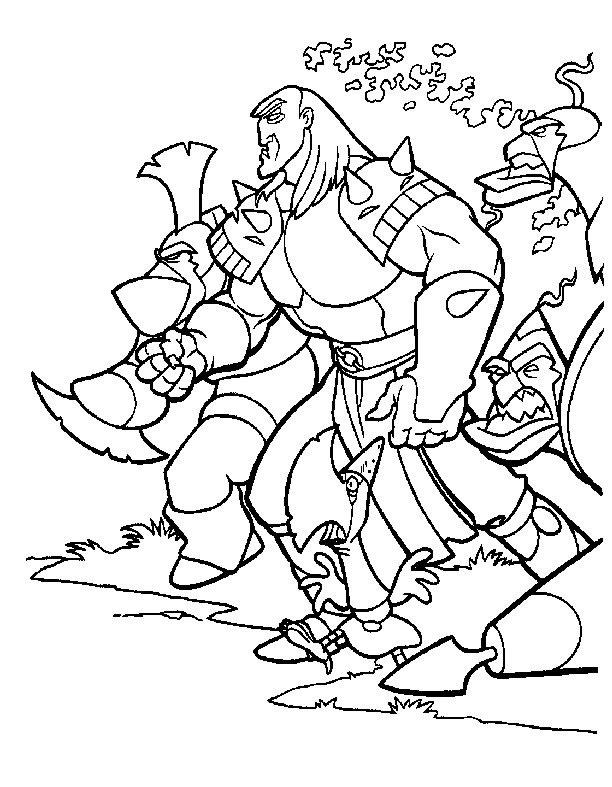 coloring page warrior coloringme