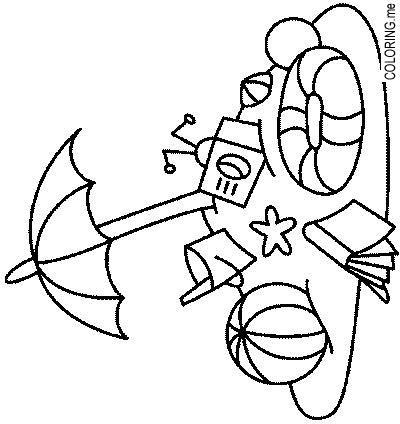 coloring pages beach theme