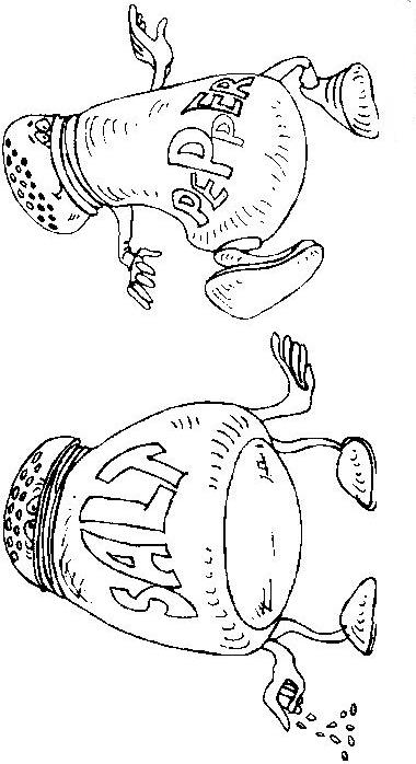 Coloring Page Salt Pepper