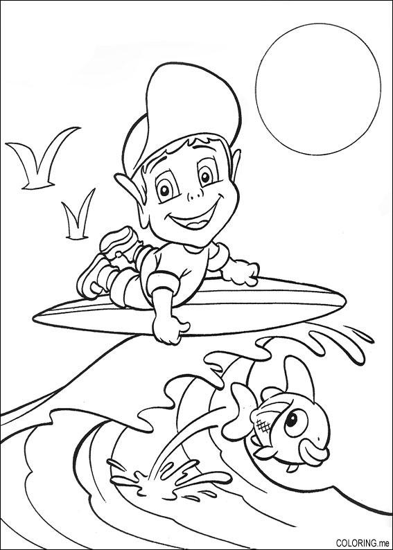 Coloring Page Adiboo Surfing Coloring Me