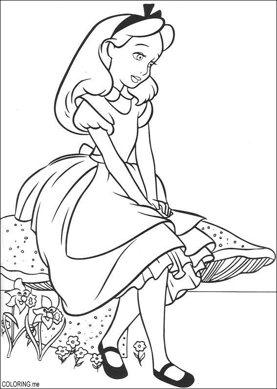 Pictures of Alice In Wonderland Mushroom Coloring Pages - #rock-cafe