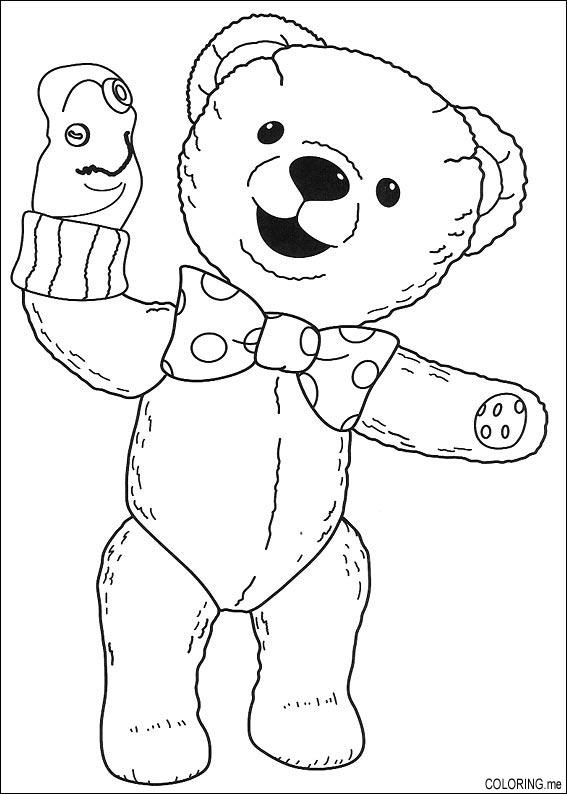 Coloring page andy pandy teddy puppet coloring me