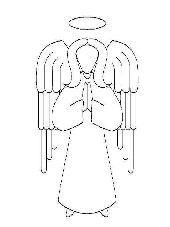guardian angel prayer coloring pages   Guardian Angel Prayer Coloring Page Coloring Pages