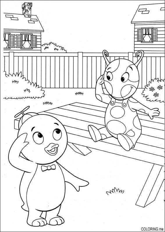 Backyardigans Uniqua Coloring Pages - Master Coloring Pages