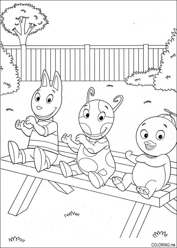 backyardigans coloring pages austin | Coloring page : The backyardigans : Uniqua , Tyrone and ...