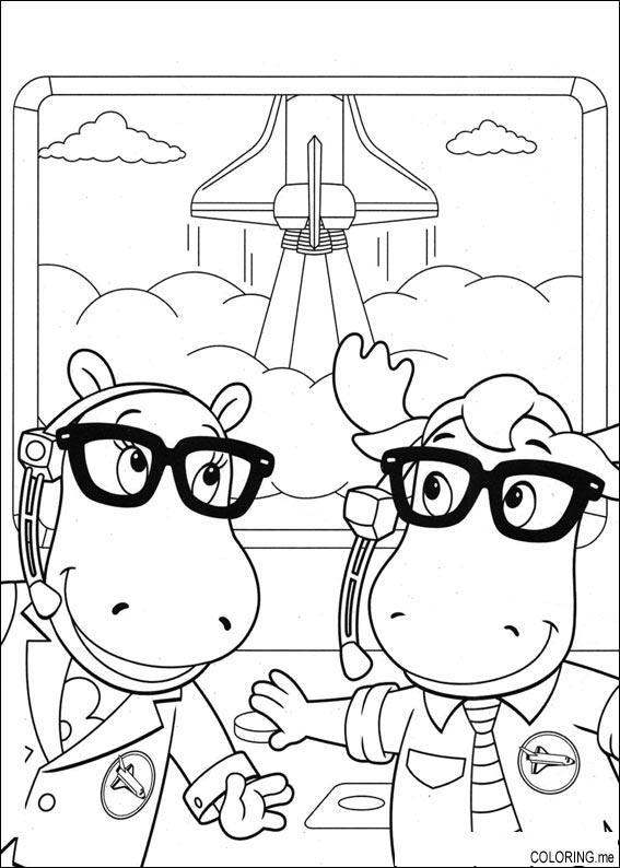 coloring page the backyardigans tasha and uniqua coloringme
