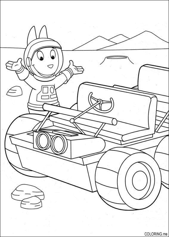 backyardigans coloring pages austin | Coloring page : The backyardigans : Austin near the moon ...