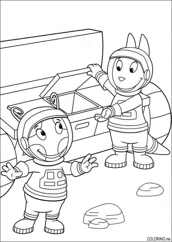 coloring page the backyardigans uniqua and austin on