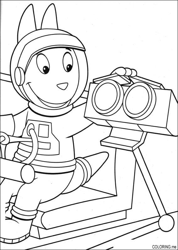 backyardigans coloring pages austin | Coloring page : The backyardigans Austin and robot ...