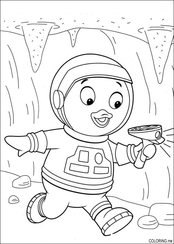 Coloring Page The Backyardigans Tyrone And Radar