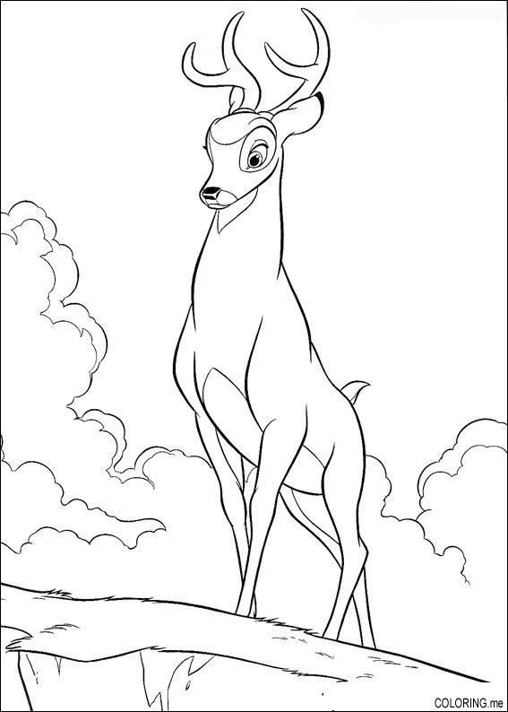Coloring Page Bambi Father