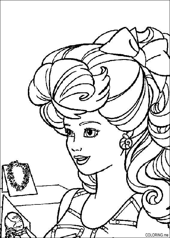 Coloring Page Barbie And Jewelry