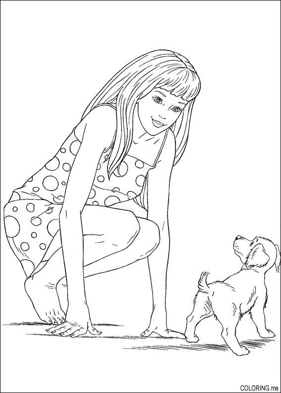 baby barbie coloring pages - photo #3