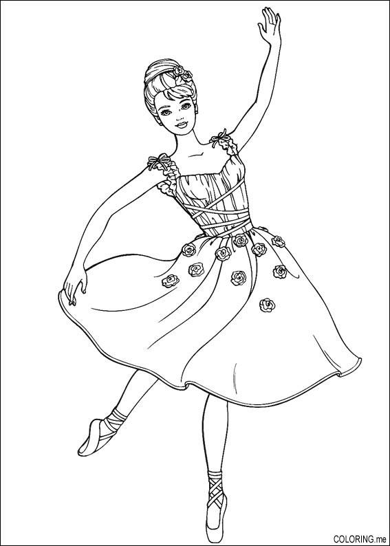 coloring page barbie dance coloringme