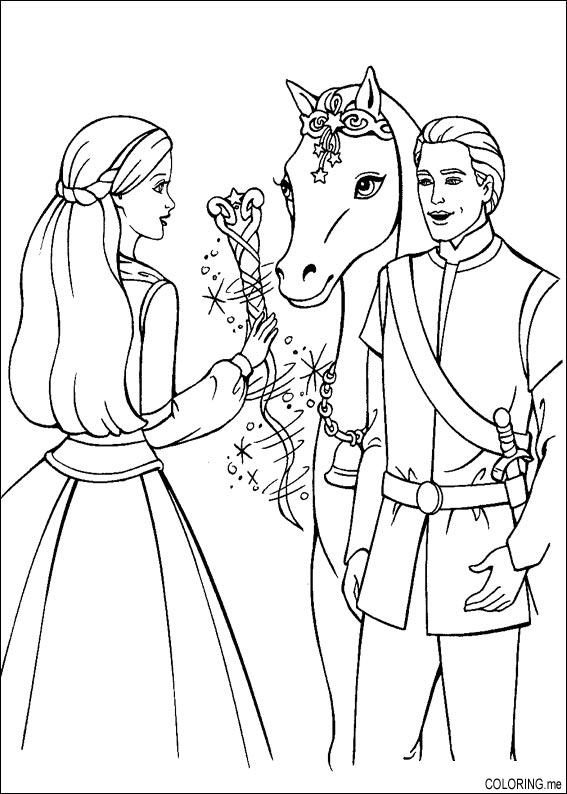 Coloring Pages Barbie And Ken : Coloring page barbie magic pegasus and ken me