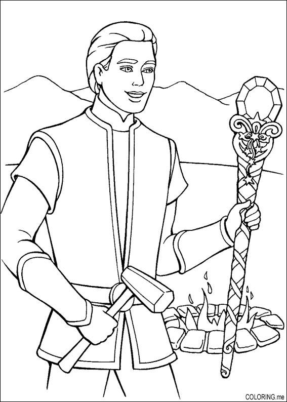 Gambar Coloring Page Barbie Magic Pegasus Ken Magic Wand Jpeg Png ...
