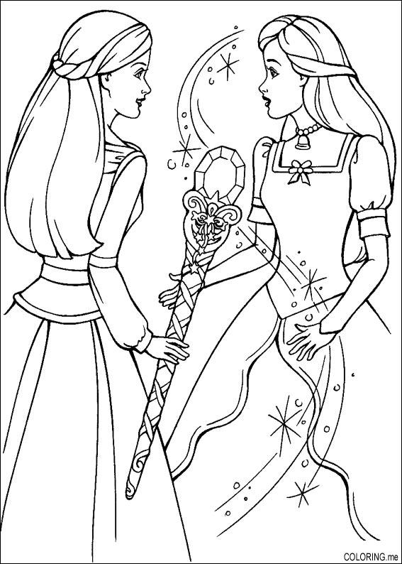 Wand Coloring Page Coloring Page Barbie Magic