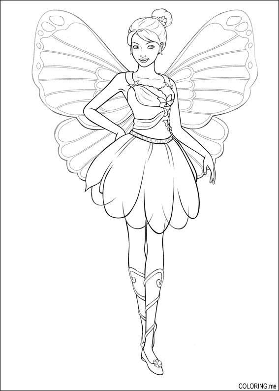 Coloring Page Barbie Magic Pegasus Fairy Coloring Me