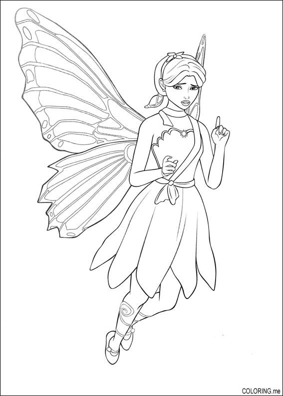 Coloring page Barbie magic pegasus fairy stay Coloringme