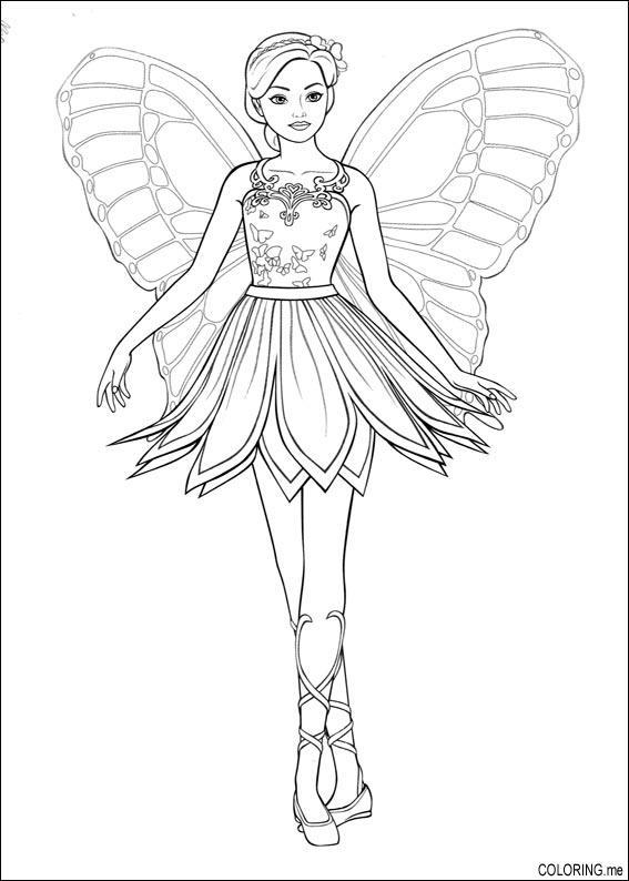 coloring page barbie magic pegasus fairy pose. Black Bedroom Furniture Sets. Home Design Ideas