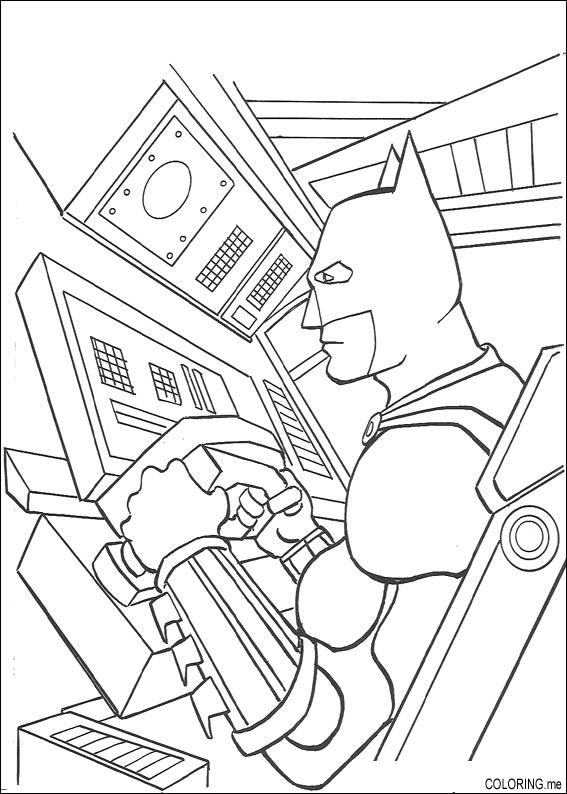Coloring page : Batman in batplane - Coloring.me