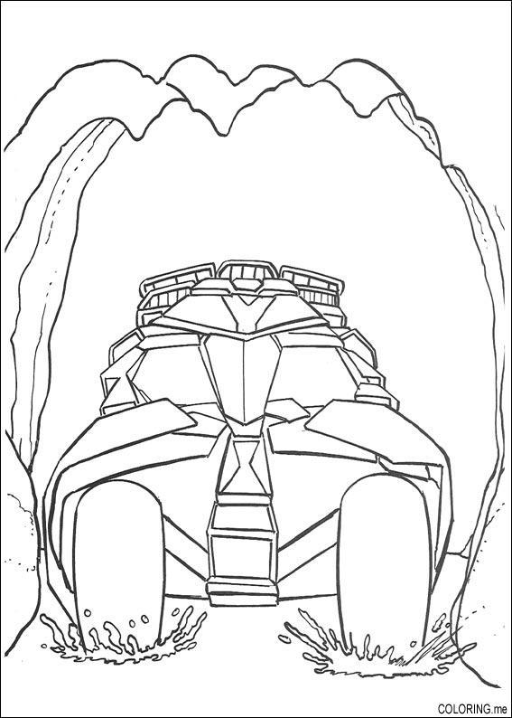 batman vehicles coloring pages - photo#25