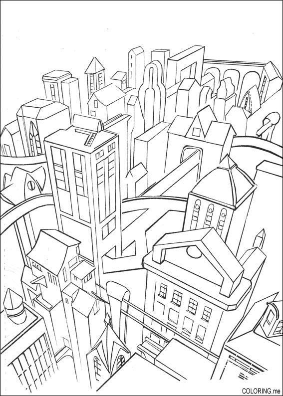 free gotham city coloring pages - photo#11