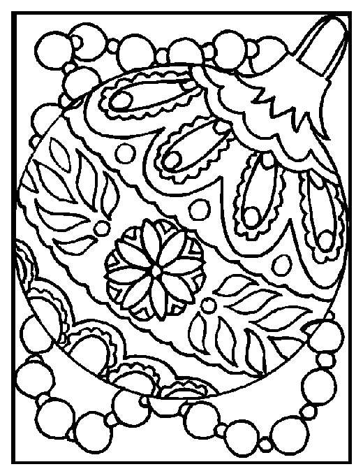 Coloring page : Christmas ball - Coloring.me