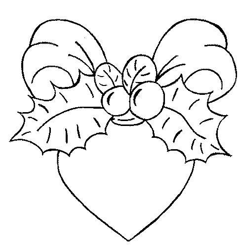 coloring page christmas heart coloringme