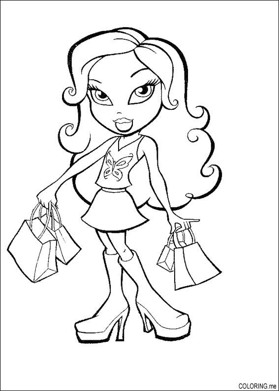 coloring pages shopping - photo#28
