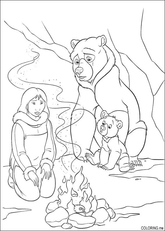 brother bear 2 coloring pages - photo#6