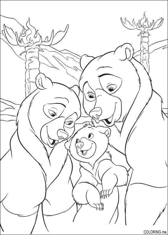 brother bear 2 coloring pages - photo#16