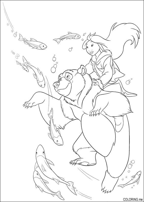 brother bear 2 coloring pages - photo#29