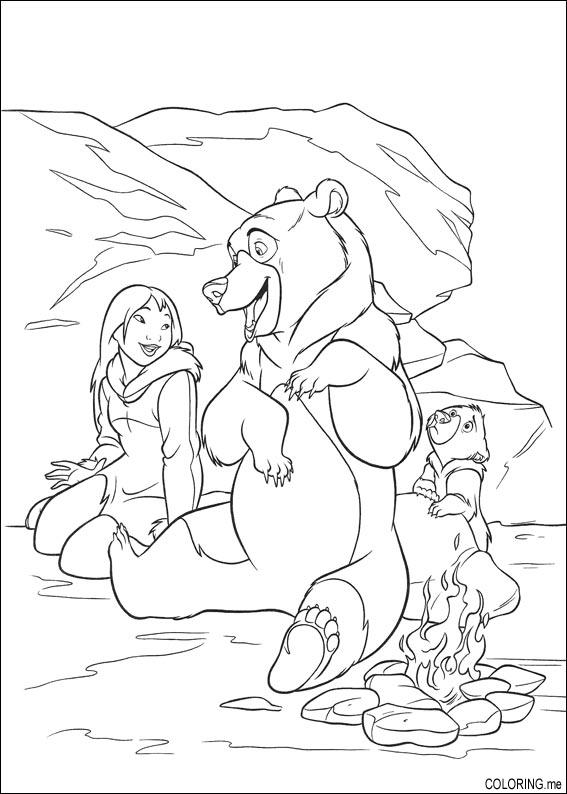 Coloring Books Near Me Page Brother Bear Girl And Fire