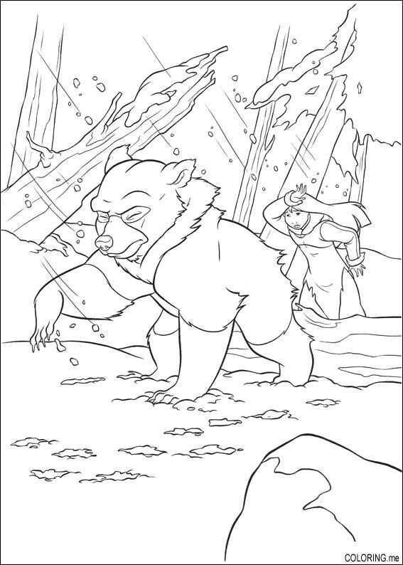 brother bear 2 coloring pages - photo#5