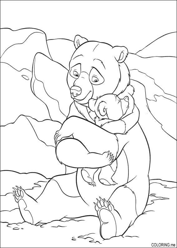 Coloring page Brother bear hug