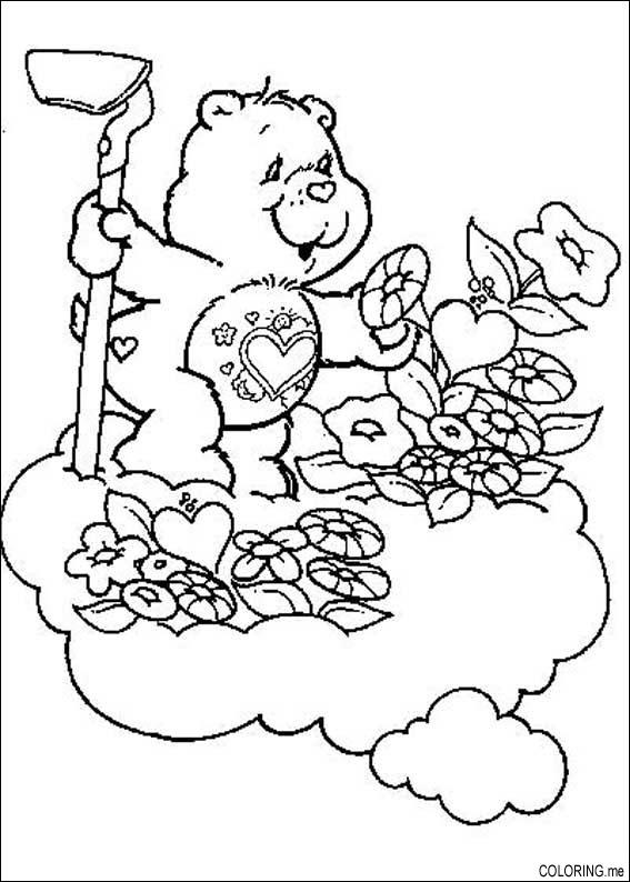 taking care flower coloring pages - photo#25