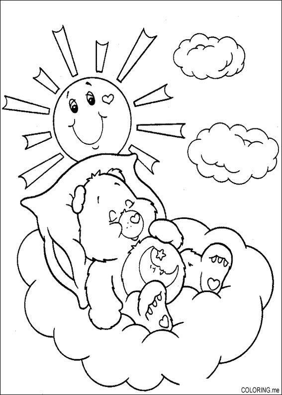 Coloring Page Care Bears Sleep In Sun
