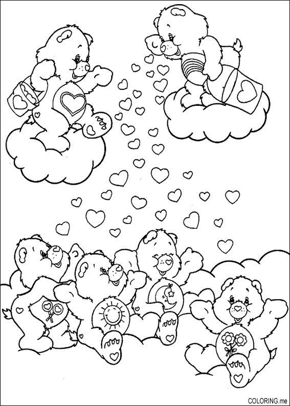 care bear valentines coloring pages-#40