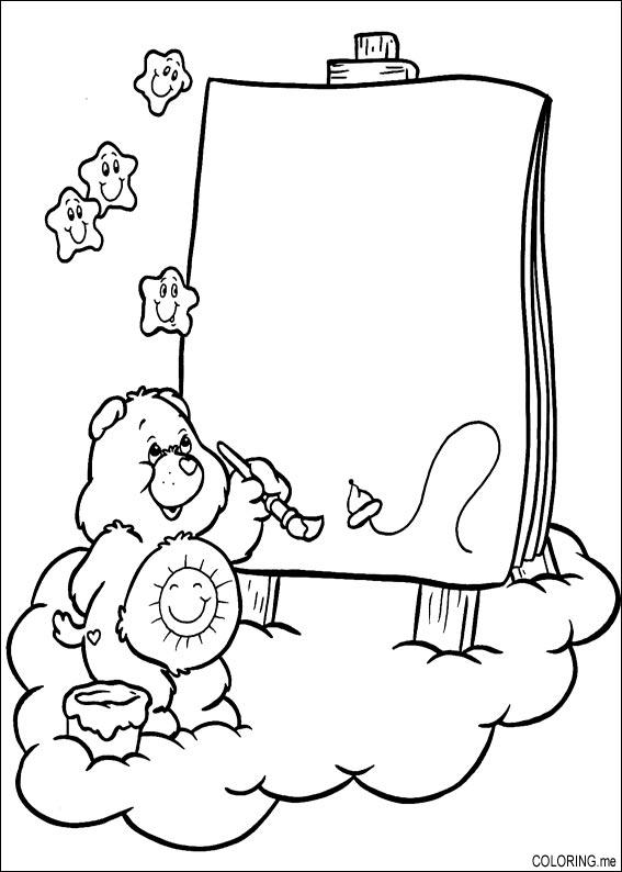 Coloring page : Care bears painting - Coloring.me
