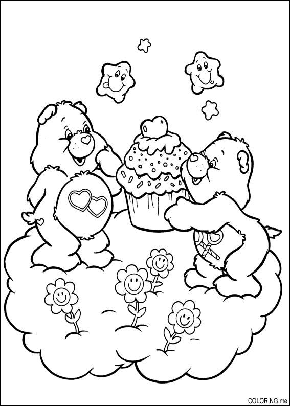 Coloring page care bears muffins for Care bears coloring pages printable