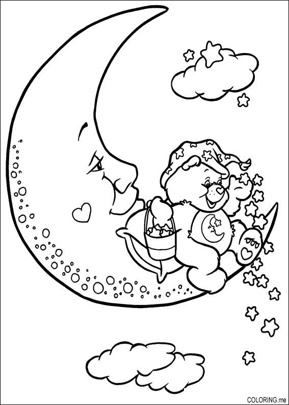 Coloring page Care bears on the