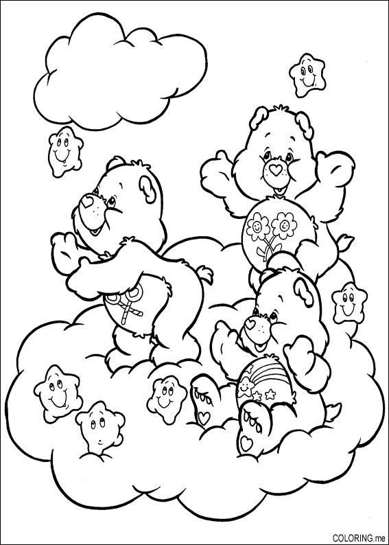 baby care bears coloring pages - photo #11
