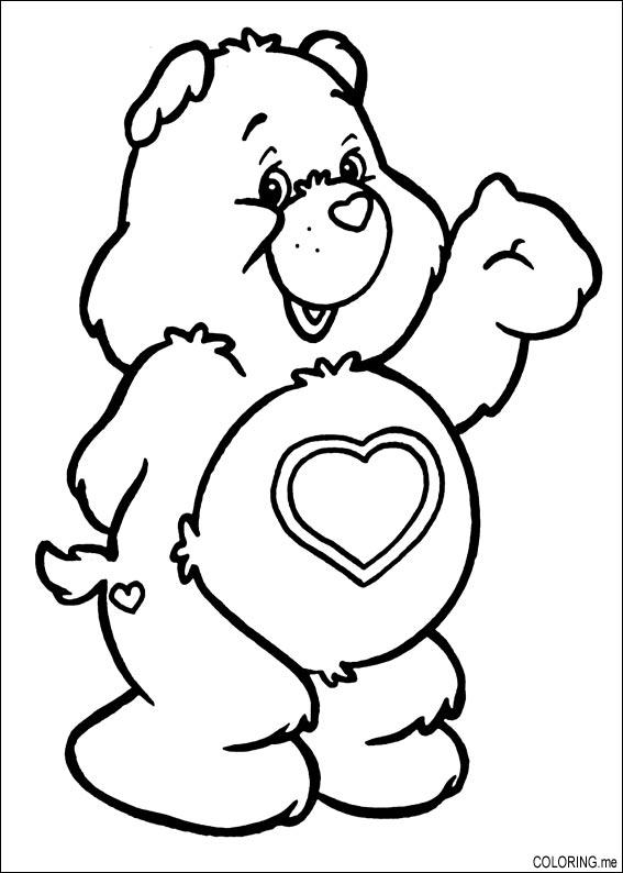 Coloring Page Care Bears Heart