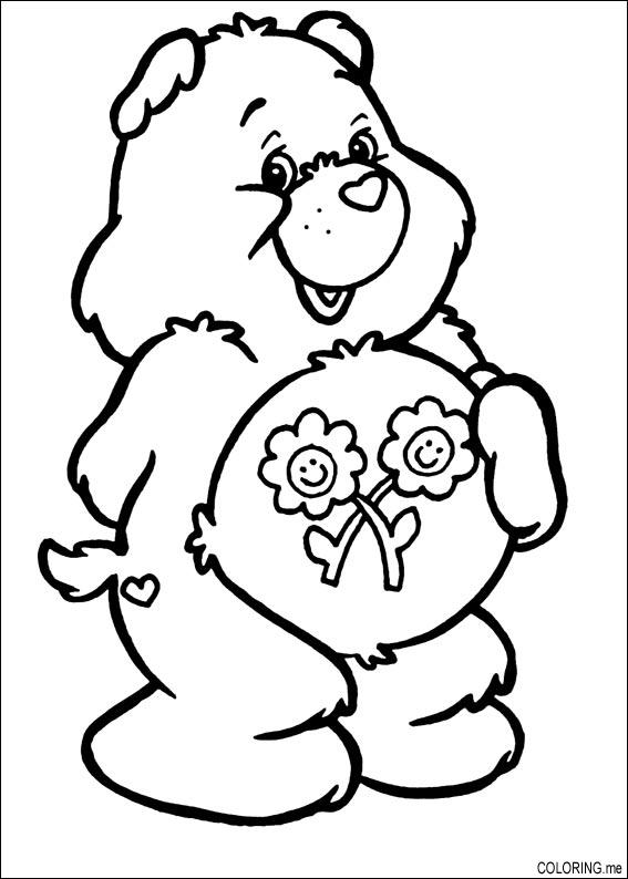 Coloring Page Care Bears Flower