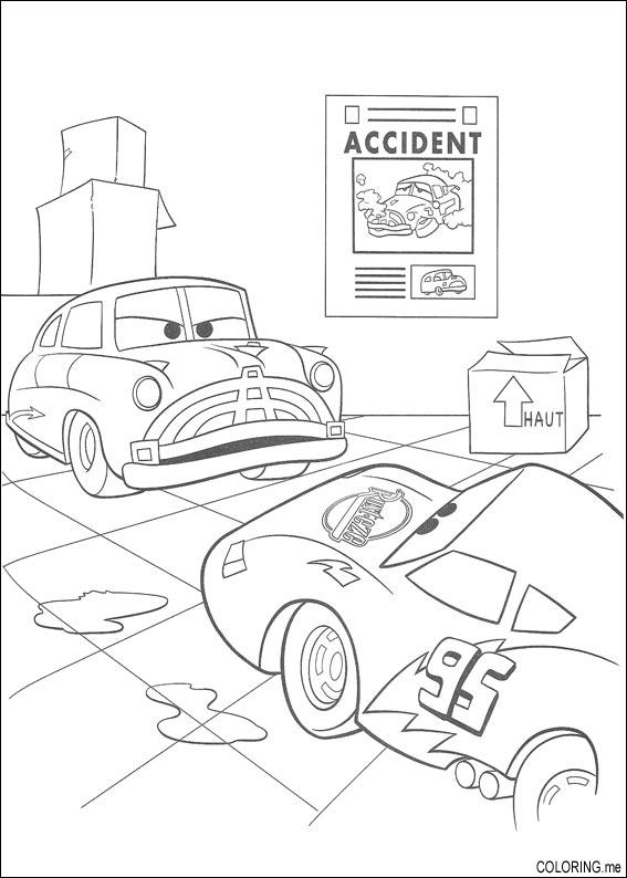 Coloring page cars accident - Coloriage cars accident ...