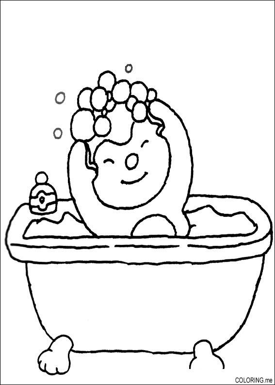 coloring pages of a bath - photo#3
