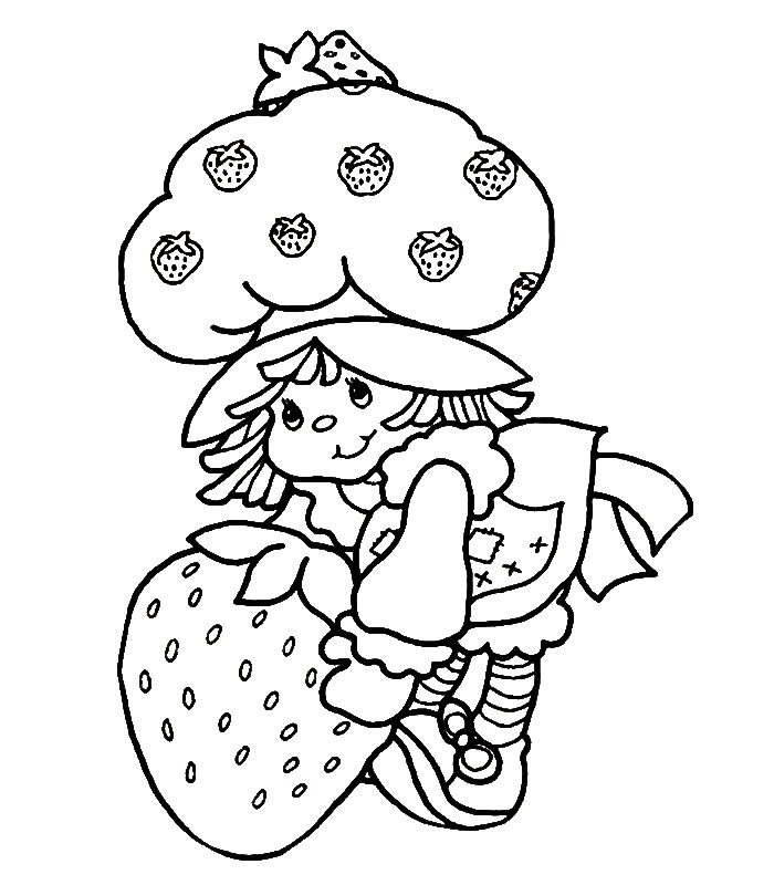 Strawberry Coloring Page - Ultra Coloring Pages | 800x700