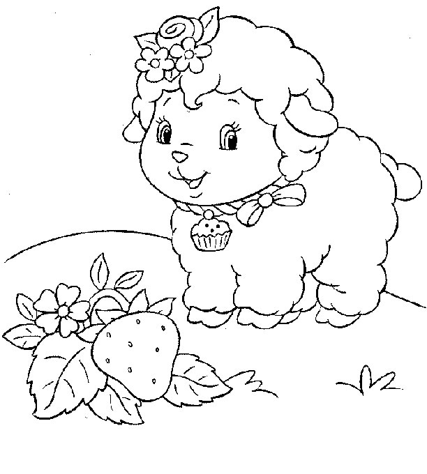 coloring page strawberry shortcake sheep coloring me